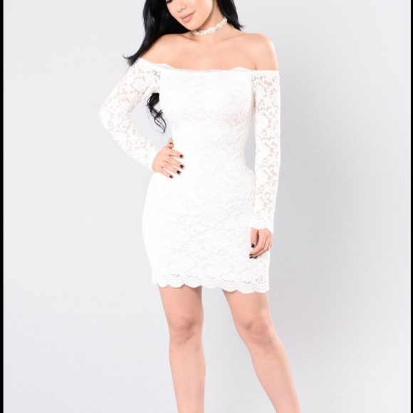 a4eeb9cefaf28 Dresses | Off Shoulder Lace Bodycon Dress White Xs | Poshmark
